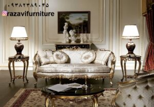 مبلمان سلطنتی لگنی مدل زمرد شیک با قیمت
