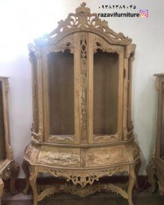 ویترین چوبی سنگین با قیمت دکوراسیون سلطنتی