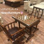 قیمت میز صندلی شطرنج و تخته نرد