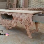 میز تلویزیون چوبی مدل لاله