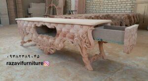 جدیدترین میز تلویزیون چوبی مدل لاله