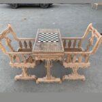 میز شطرنج چوب راش