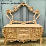 آینه میز کنسول چوبی مدل رز