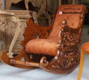 صندلی راک لهستانی تمام چوب راش