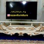 میز تلویزیون چوبی مدل ظریف -تولیدی رضوی تبریز