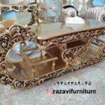 جدیدترین میز تلویزیون چوبی مدل نیلوفر- تولیدی رضوی تبریز