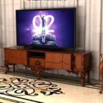 میز تلویزیون مدرن چوبی مدل لورن- تولیدی رضوی تبریز