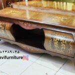 میز تلویزیون معرق چوبی