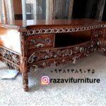 میز تلویزیون چوبی سلطنتی