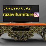 میز تلویزیون چوبی مدل پانیذ با قیمت_ تولیدی رضوی تبریز