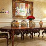 میز غذاخوری سلطنتی مدل فرانسوی دوگل