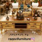 میز تلویزیون چوبی پایه خراطی -تولیدی رضوی تبریز