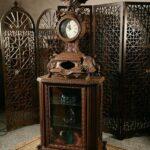 ویترین چوبی ساعت دار کد ۰۳۴- تولیدی رضوی تبریز