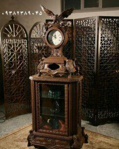 جدیدترین ویترین ساعتی چوبی جهیزیه