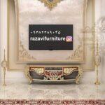 جدیدترین میز تلویزیون کلاسیک مدل باران- تولیدی رضوی تبریز