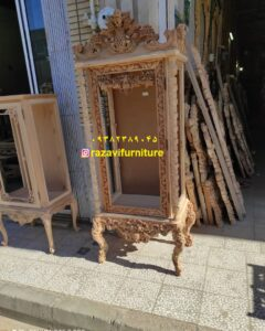 کلاف خام بوفه چوبی جهیزیه کلاسیک