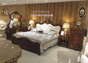 سرویس خواب سلطنتی جدید چوبی ارزان تولیدی رضوی