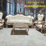 مبل کلاسیک فوق لاکچری مدل پگاه- تولیدی مبلمان رضوی تبریز